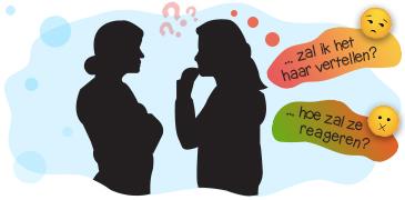 praten met een vriendin